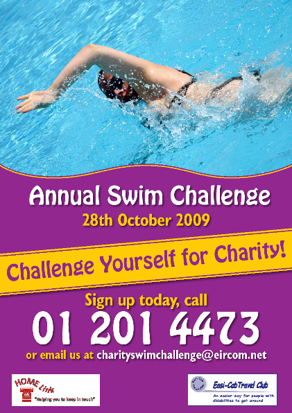 In aid of Homelink and Easi-Cab Bray, Raise Money doing something you like, Choose the lengths you want to swim